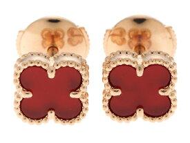 Van Cleef & Arpels ヴァンクリーフ&アーペル 貴金属 宝石 ピアス スウィートアルハンブラピアス ピンクゴールド 2.8g 【471】【中古】【大黒屋】