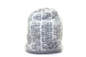 CHANEL シャネル 帽子 ニットキャップ  グレー カシミヤ シルク 【200】【中古】【大黒屋】