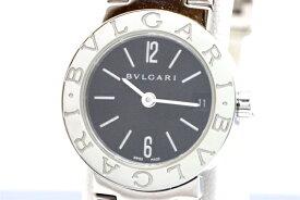 【送料無料】BVLGARI ブルガリ ブルガリ BB23SS SS クォーツ ブラック レディース 【430】【中古】【大黒屋】