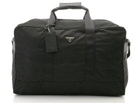 PRADA プラダ ボストンバッグ ブラック ナイロン カーフ V60 VIAGGIO NERO 【437】【中古】【大黒屋】