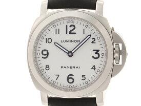PANERAI 時計 パネライ ルミノール ベース PAM00114 メンズ 手巻き ステンレス SS 革 【430】【中古】【大黒屋】