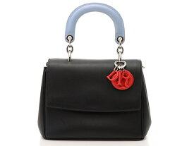【送料無料】Dior ディオール バッグ 2wayショルダー ビーディオール2WAYショルダー ブラック/ミズイロ/レッド カーフ【472】【中古】【大黒屋】