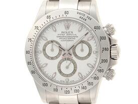【M番】ROLEX 時計 ロレックス デイトナ 116520 ホワイト 生産終了モデル M番 メンズ 自動巻き ステンレス SS 【460】【中古】【大黒屋】