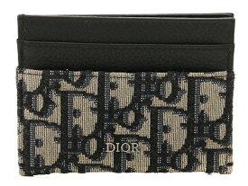 Dior 名刺入れ ディオール オブ リーク カードホルダー ベージュ×ブラック【430】【中古】【大黒屋】