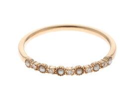 【送料無料】agete アガット リング 指輪 K10 ゴールド パール ダイヤモンド 11号 【460】【中古】【大黒屋】