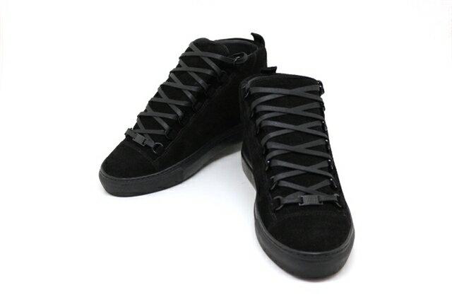 BALENCIAGA バレンシアガ ベルト・くつ 靴 スニーカー 40 ブラック スエード 【200】【中古】【大黒屋】