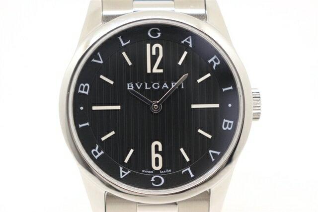 【送料無料】BVLGARI ブルガリ 時計 クオーツ ソロテンポ ST37BSS ステンレススチール メンズ 【430】【中古】【大黒屋】