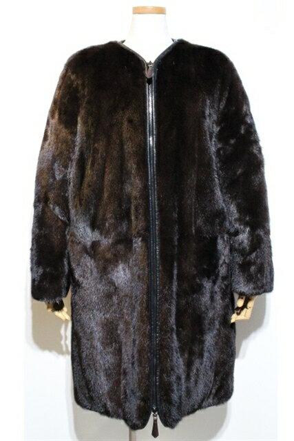 [送料無料]FENDI フェンディ 衣料品 衣類 定価¥2,414,880 リバーシブルコート サイズ42 ブラウンミンク【200】【中古】【大黒屋】