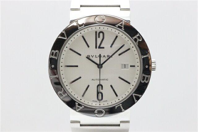 [送料無料]BVLGARI ブルガリ 時計 ブルガリブルガリ オートマチック SS メンズ ホワイト BB42SS 【437】【中古】【大黒屋】