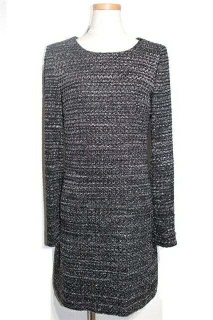 [送料無料]CHANEL シャネル 衣料品 衣類 ワンピース サイズ38 ブラック ナイロン ツイード【200】【中古】【大黒屋】
