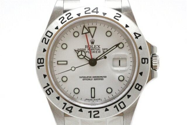 【送料無料】ROLEX ロレックス 時計 エクスプローラー2 16570 白文字盤 ホワイト F番 SS ステンレス 自動巻き メンズ 【431】【中古】【大黒屋】