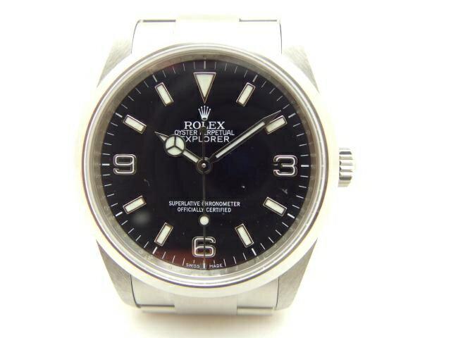 【送料無料】ROLEX ロレックス オートマチック エクスプローラー1 114270 Z番 ブラック メンズ【411】【中古】【大黒屋】