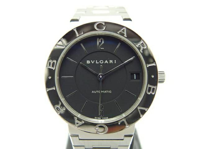 [送料無料]BVLGARI 時計  オートマチック ブルガリ ブルガリ SS ブラック 【435】【中古】【大黒屋】