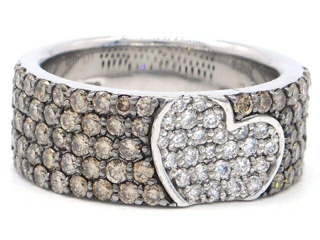 [送料無料]Ponte Vecchio ポンテヴェキオ ハートモチーフ リング 指輪 ダイヤモンド0.23ct 1.11ct 12号 【437】【中古】【大黒屋】