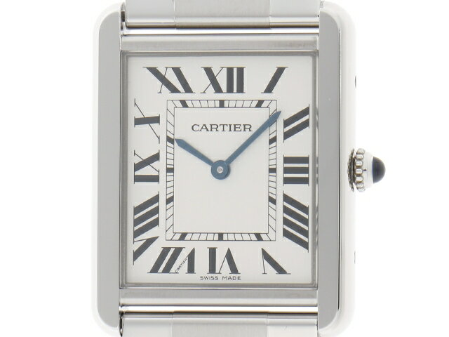 [送料無料]Cartier 時計 タンク・ソロ クオーツ/SS/82.0g 【435】【中古】【大黒屋】