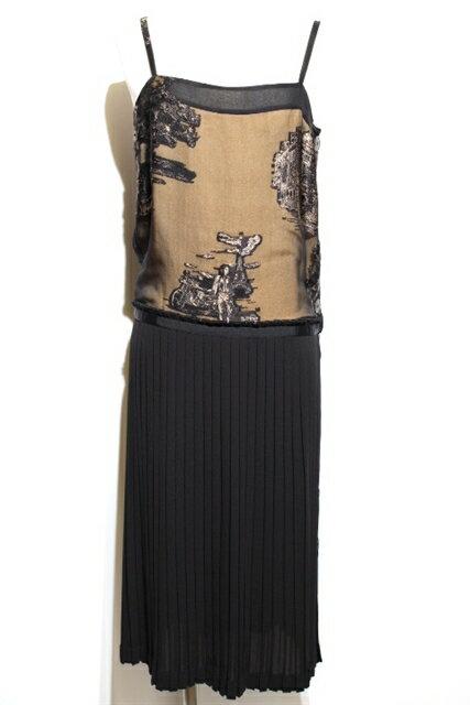 HERMES エルメス 衣料品 衣類 ワンピース レディース 34 XS ブラック シルク【200】【中古】【大黒屋】