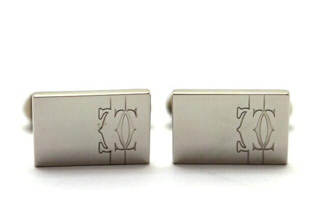 Cartier カルティエ 2C モチーフ カフス T1220520 シルバー 【473】【中古】【大黒屋】