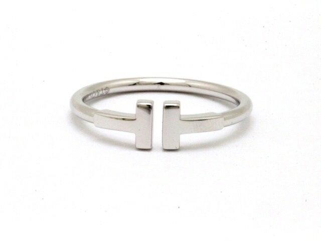 【送料無料】TIFFANY&CO ティファニー 貴金属 宝石 Tワイヤーリング ホワイトゴールド 3.3g 18号【438】【中古】【大黒屋】