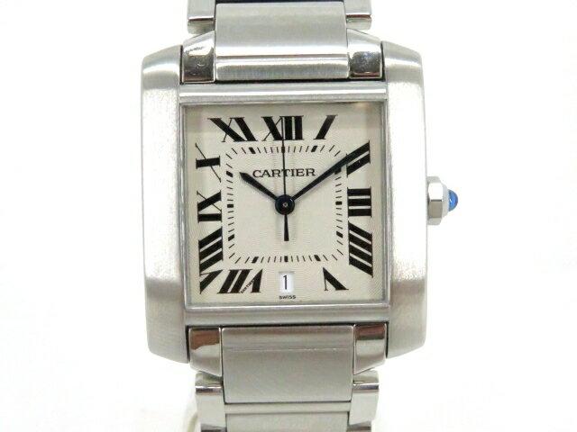 Cartier カルティエ 時計 タンクフランセーズLM クオーツ ステンレススチール メンズ【203】【中古】【大黒屋】