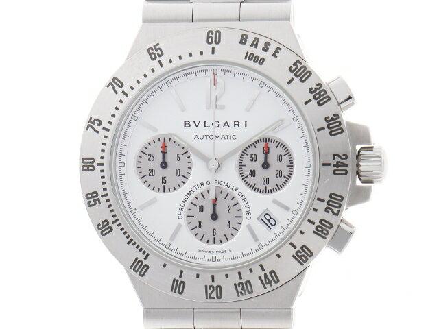 [送料無料]BVLGARI ブルガリ 時計 ディアゴノ タキメトリック CH40STA 自動巻き ステンレス SS メンズ 【438】【中古】【大黒屋】
