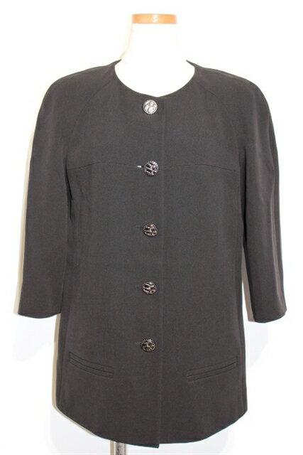 [送料無料]CHANEL シャネル 衣料品 衣類 ジャケット レディース 40 M 七分袖 ブラック シルク P51505V38360【200】【中古】【大黒屋】