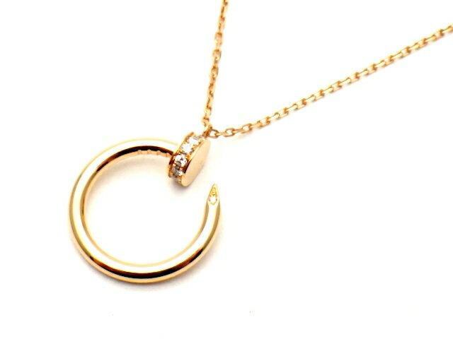 [送料無料]Cartier カルティエ ジュスト アン クル ネックレス ピンクゴールド ダイヤモンド B7224513 【437】【中古】【大黒屋】