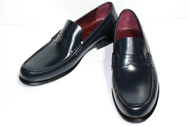 LOUIS VUITTON ルイヴィトン 革靴 ローファー ビジネスシューズ メンズ6ハーフ ネイビー レザー【432】【中古】【大黒屋】