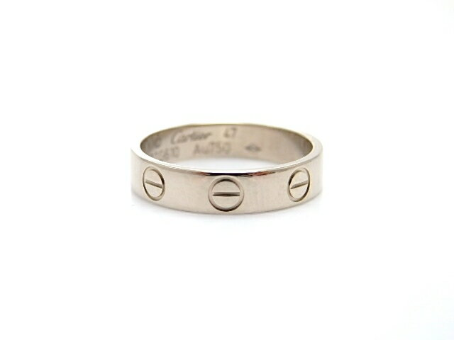 Cartier カルティエ ミニラブリング 指輪 WG ホワイトゴールド 47号 【474】【中古】【大黒屋】