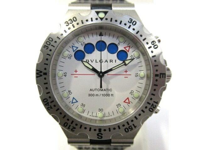 【送料無料】BVLGARI ブルガリ 時計 オートマチック スクーバレガッタ SS/ラバー SD40SRE 【413】【中古】【大黒屋】