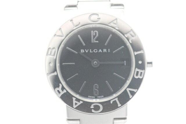 【送料無料】BVLGARI ブルガリ 時計 BB23SS ブルガリ・ブルガリ ロゴあり SS ブラック文字盤 クォーツ レディース 【450】【中古】【大黒屋】