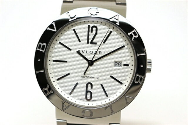 【送料無料】BVLGARI ブルガリ 時計 ブルガリブルガリ BB42SS ホワイト文字盤 ステンレス オートマチック メンズ 【200】【中古】【大黒屋】