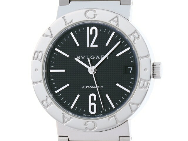 【送料無料】BVLGARI ブルガリ 時計 BB33SS SS ブラック 自動巻き メンズ  【436】【中古】【大黒屋】