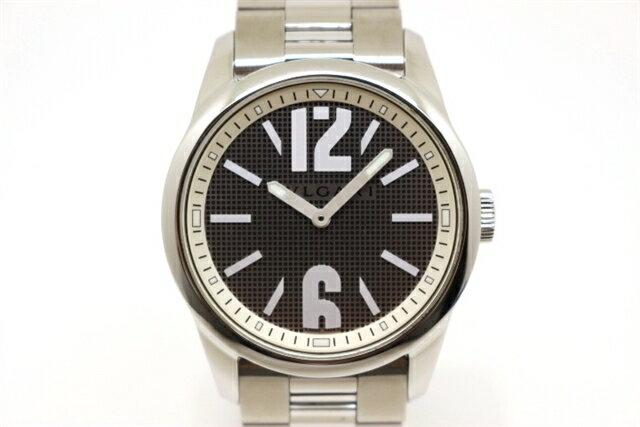 【送料無料】BVLGARI ブルガリ 時計 ソロテンポ クオーツ ステンレススチール 【430】【中古】【大黒屋】