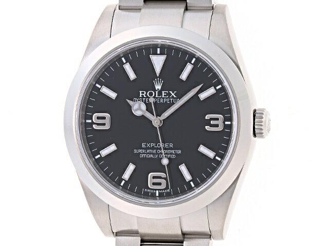 [送料無料]ROLEX ロレックス 時計 エクスプローラー1 214270 ステンレス オートマチック ブラック G番 【474】【中古】【大黒屋】