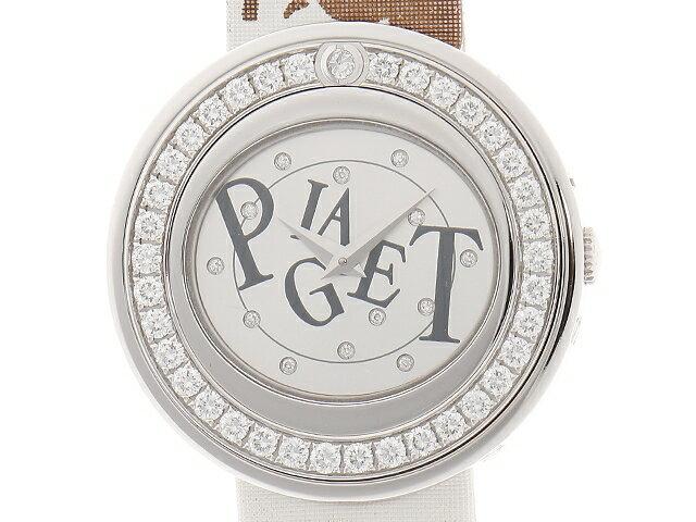 【送料無料】PIAGET ピアジェ ポセション P10402 ホワイトゴールド/サテン WG ダイヤモンド クオーツ【472】【中古】【大黒屋】