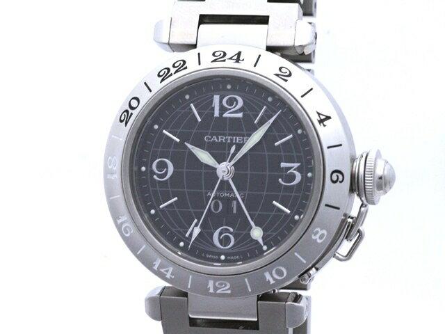 【送料無料】Cartier カルティエ 時計 W31049M7 パシャC メリディアン ボーイズ 自動巻き ステンレススチール 黒文字盤【411】【中古】【大黒屋】