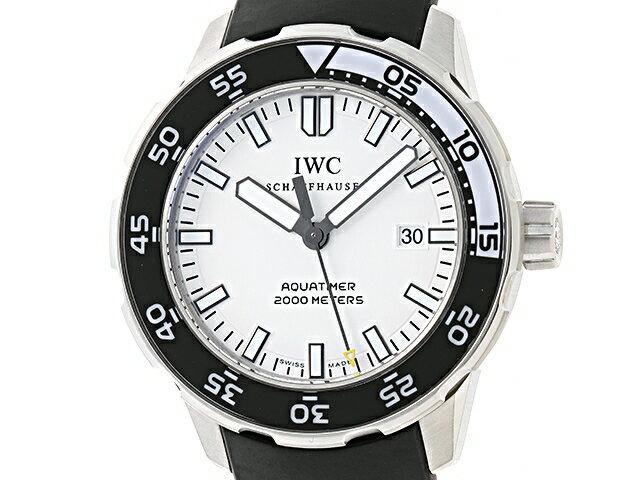 【送料無料】IWC 時計/ウォッチ メンズ 自動巻 アクアタイマー オートマチック2000 IW356811 SS/ラバーベルト 【436】【中古】【大黒屋】