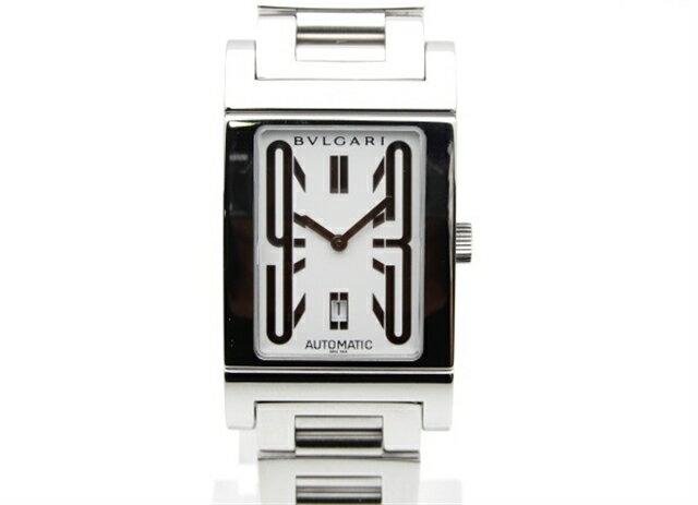 【送料無料】BVLGARI ブルガリ 時計 レッタンゴロ RT45S オートマチック ステンレススチール 白文字盤 【439】【中古】【大黒屋】