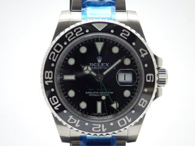 【送料無料】ROLEX GMTマスター2 116710LN ランダム番 メンズ ブラック文字盤 ステンレス 自動巻き【430】【中古】【大黒屋】