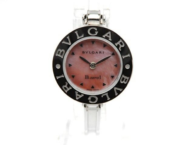 【送料無料】BVLGARI ブルガリ 時計 B-zero1 BZ22S ピンクシェル文字盤 クオーツ ステンレススチール 【439】【中古】【大黒屋】