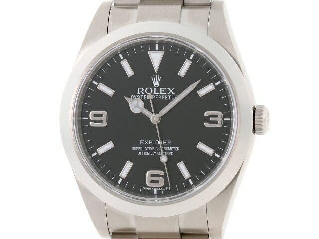 【送料無料】ROLEX ロレックス メンズ 時計 エクスプローラーI 214270 オートマチック SS ブラック G番 100m防水 【436】【中古】【大黒屋】
