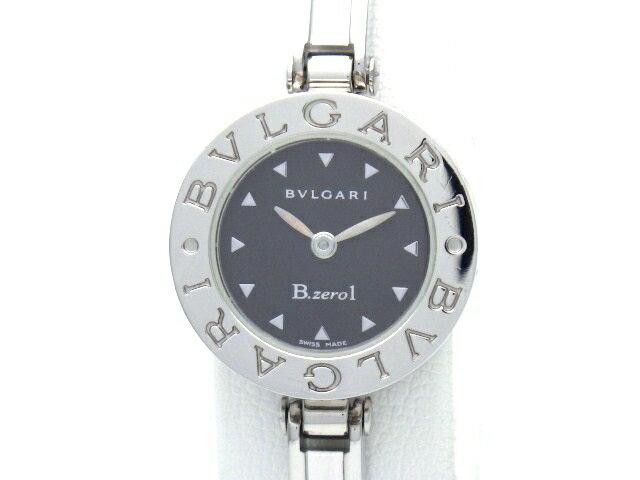 【送料無料】BVLGARI ブルガリ 時計 B-zero1 BZ22S クオーツ 黒文字盤 Mサイズ レディース 【438】【中古】【大黒屋】