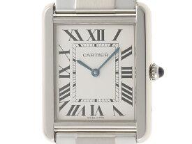 【送料無料】Cartier カルティエ 時計 タンク・ソロLM クオーツ シルバー メンズ  W5200014 【430】【中古】【大黒屋】