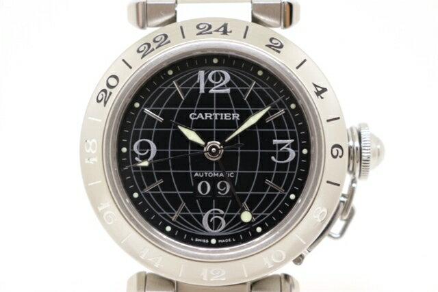 [送料無料]Cartier カルティエ 時計 パシャC メリディアン ビッグデイト W31029M7 ステンレス オートマチック メンズ 【200】【中古】【大黒屋】