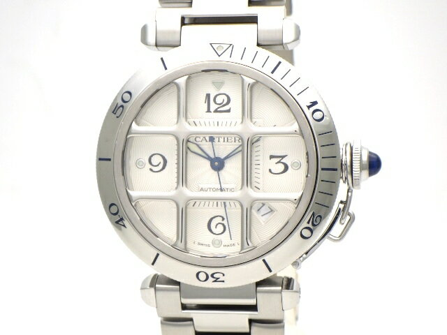 【送料無料】Cartier カルティエ メンズ 時計  オートマチック  パシャグリット W31040H3 SS シルバー 【436】【中古】【大黒屋】