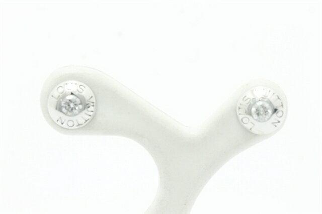 【送料無料】LOUIS VUITTON ルイ・ヴィトン ピュスドレイユクルーピアス K18WG ホワイトゴールド ダイヤモンド 【450】【中古】【大黒屋】