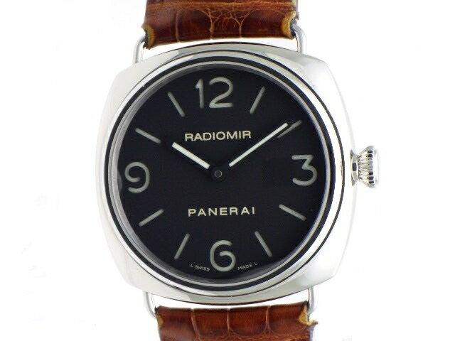 【送料無料】PANERAI  ラジオミールベース PAM00210 SS/革 メンズ 時計  手巻き 45mm  【436】【中古】【大黒屋】