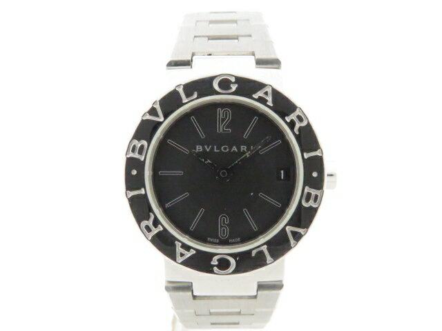 【送料無料】BVLGARI ブルガリ 時計 ブルガリブルガリ クオーツ ステンレス ブラック BB23SS 【203】【中古】【大黒屋】