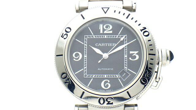 【送料無料】Cartier カルティエ 時計 パシャ シータイマー オートマチック SS【437】【中古】【大黒屋】
