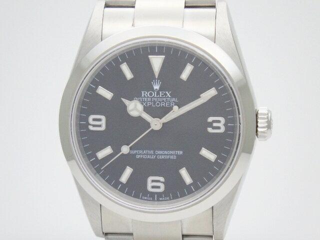 【送料無料】ROLEX ロレックス 時計 ウォッチ エクスプローラー1 114270 K番(約2001年) ブラック オートマチック 自動巻き メンズ SS ステンレス【413】【中古】【大黒屋】